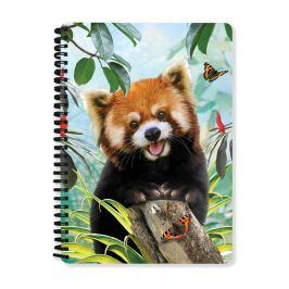 Sešit 3D A5 Panda Červená