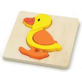 Alltoys Puzzle dřevěné kačenka 4 dílky