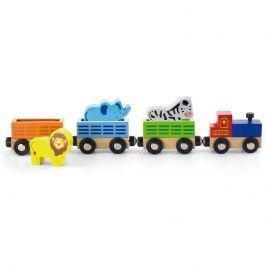 Studo Wood Vlaková souprava - Divoká zvířata