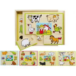 Studo Wood Puzzle set 4 ks
