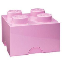 LEGO úložný box 250 x 250 x 180 mm - světle růžová