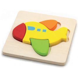 HM studio Puzzle dřevěné - letadlo 4 dílky
