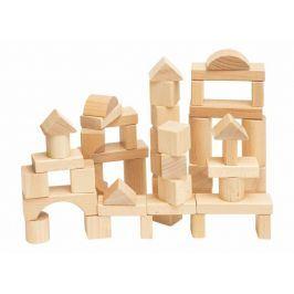 Stavebnice kostky přírodní v kartonu, 50 dílů