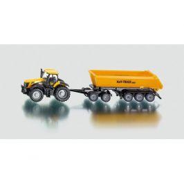 Siku 1858 Traktor FASTRAC JCB 8250 a návěs kontejnerový HALF TRAXX 1:87