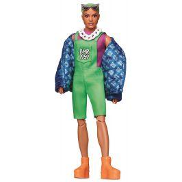 Mattel Barbie Ken se zelenými vlasy módní deluxe