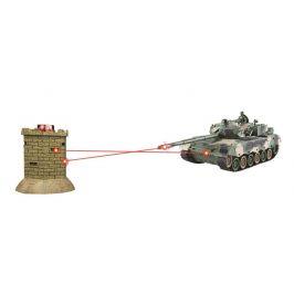 EPline Bojující RC tank 1:28 - interaktivní IR bitva Leopard II vs pevnost