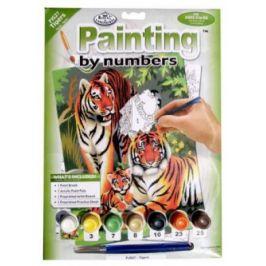 Malování podle čísel - Tygří rodinka