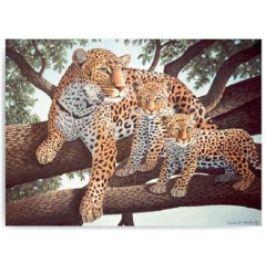 Malování podle čísel- Leopard s mláďaty