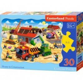 Puzzle CASTORLAND - Stavba domu 30 dílků