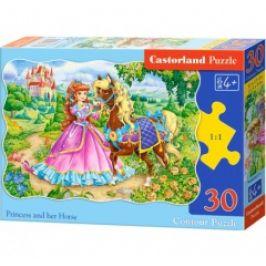 Puzzle CASTORLAND - Princezna s koníkem 30 dílků