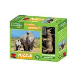 Lamps 155032 3D Puzzle Nosorožec 100 dílků figurka