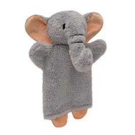 Slon 27cm šedý, maňásek