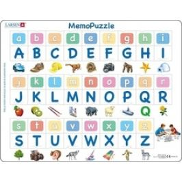 Larsen Puzzle Memo - abeceda malá, velká, obrázky 52 dílků