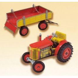 Traktor Zetor s valníkem, plastová kola