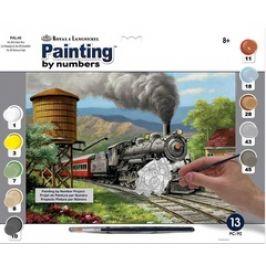 Malování podle čísel - Parní lokomotiva
