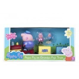 PEPPA PIG - vláček + 3 figurky