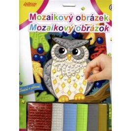 Mozaikový obrázek - Sova