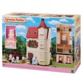 Sylvanian family Dům s věží a červenou střechou