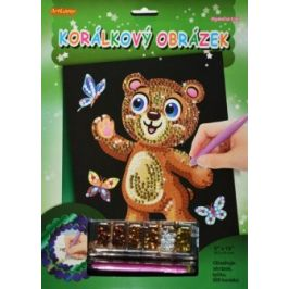 Korálkový obrázek - Medvídek