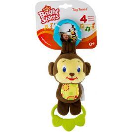 BRIGHT STARTS Hračka na C kroužku Tug Tunes s melodií - opice