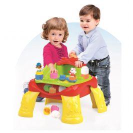 CLEMENTONI Clemmy baby - Veselý hrací stolek s kostkami a zvířátky (12 částí)
