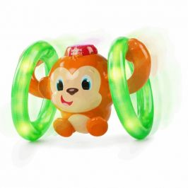 BRIGHT STARTS Hračka svítící hudební opička LLB Roll & Glow™ 6-36 m