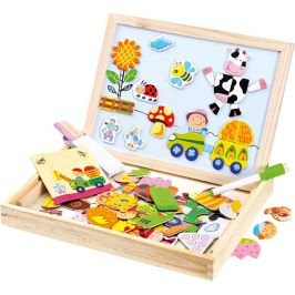 BINO Farma magnetická tabulka s puzzlemi, 102 dílků