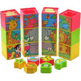 TEDDIES Kostky a jiné tvary v krabici, plastové, 12 ks