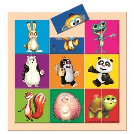 BINO Krtek a Panda skládačka dělené hlavičky