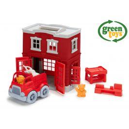 GREEN TOYS Hasičská stanice s autíčkem