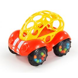 OBALL Hračka autíčko Rattle&Roll Oball™ červeno/žluté 3m+