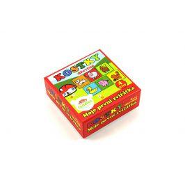 TEDDIES Kostky kubus dřevěné Moje první zvířátka 4 ks v krabičce