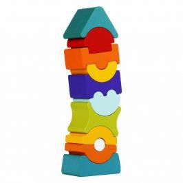 CUBIKA Balanční věž IX - dřevěná skládačka 11 dílů