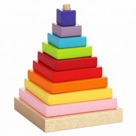 CUBIKA Barevná pyramida - dřevěná skládačka 9 dílů