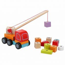 CUBIKA Autojeřáb s magnetem - dřevěná skládačka 14 dílů